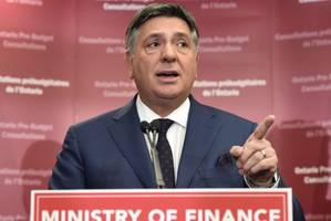 Ontario treasurer says deficit down to $10.9B